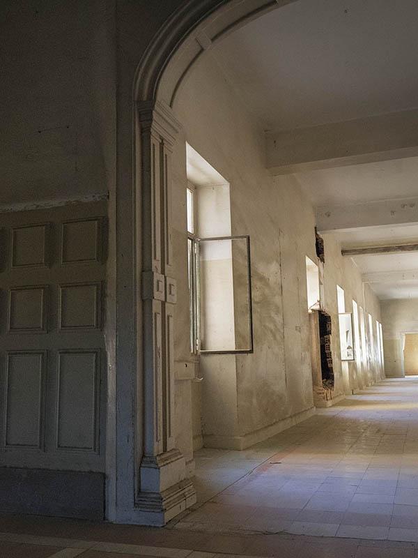 Vista detall d'un passadís de la Planta 1, Hospital del Tòrax