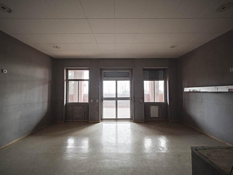 Vista d'una habitació de la Planta -1 Antic Hospital del Tòrax