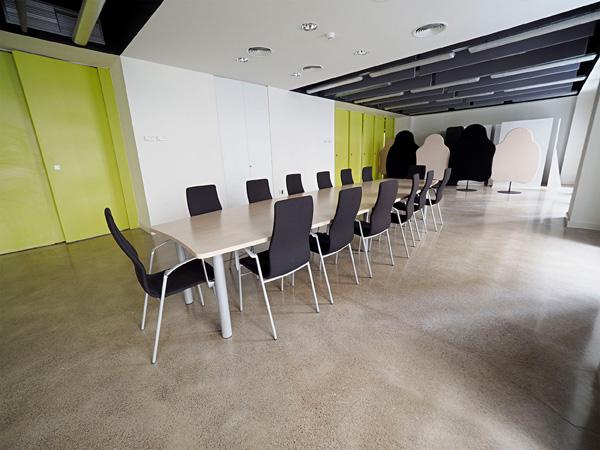 Vista de la sala de reunions