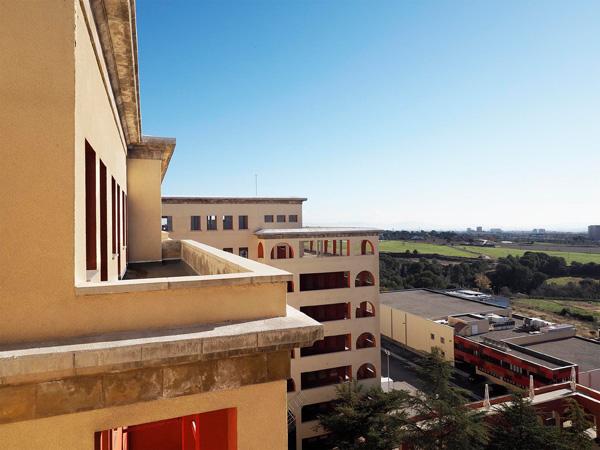 Imatge de les vistes des del Terrat Central, Hospital del Tòrax