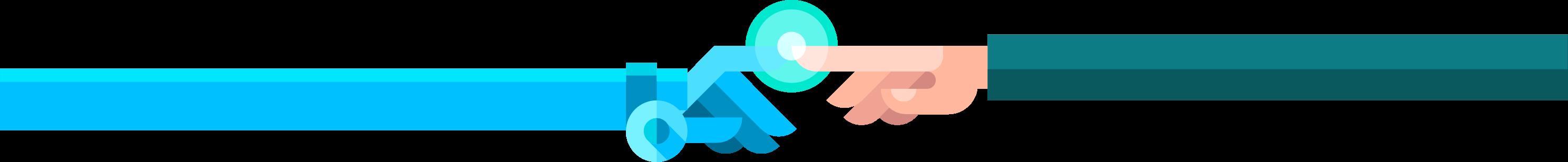 Imatge d'una mà de robot i d'una persona unint-se