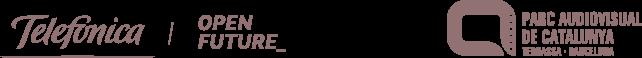 Logos de Telefònica Open Future i de Parc Audiovisual de Catalunya